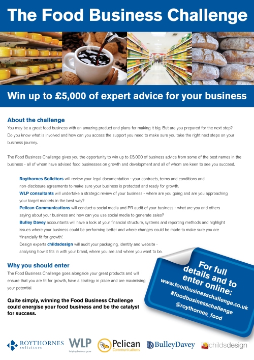 Roythornes Food Business Challenge - May 2015