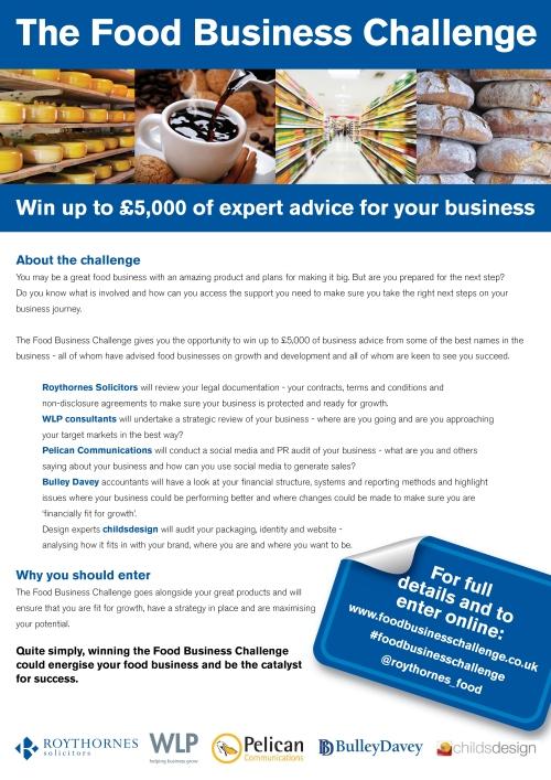 Roythornes Food Business Challenge - May 2015